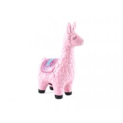 Pokladnička – ružová lama