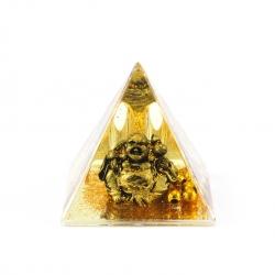 Pyramída so sediacim Budhom