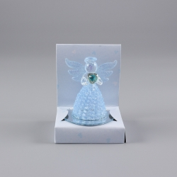 Anjel sklenený modrý