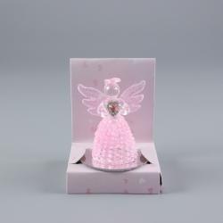 Anjel sklenený ružový