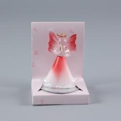 Anjel sklenený červený