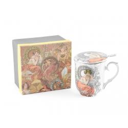 Šálka so sitkom na čaj