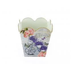 """Kovový kvetináč """"Lavender..."""